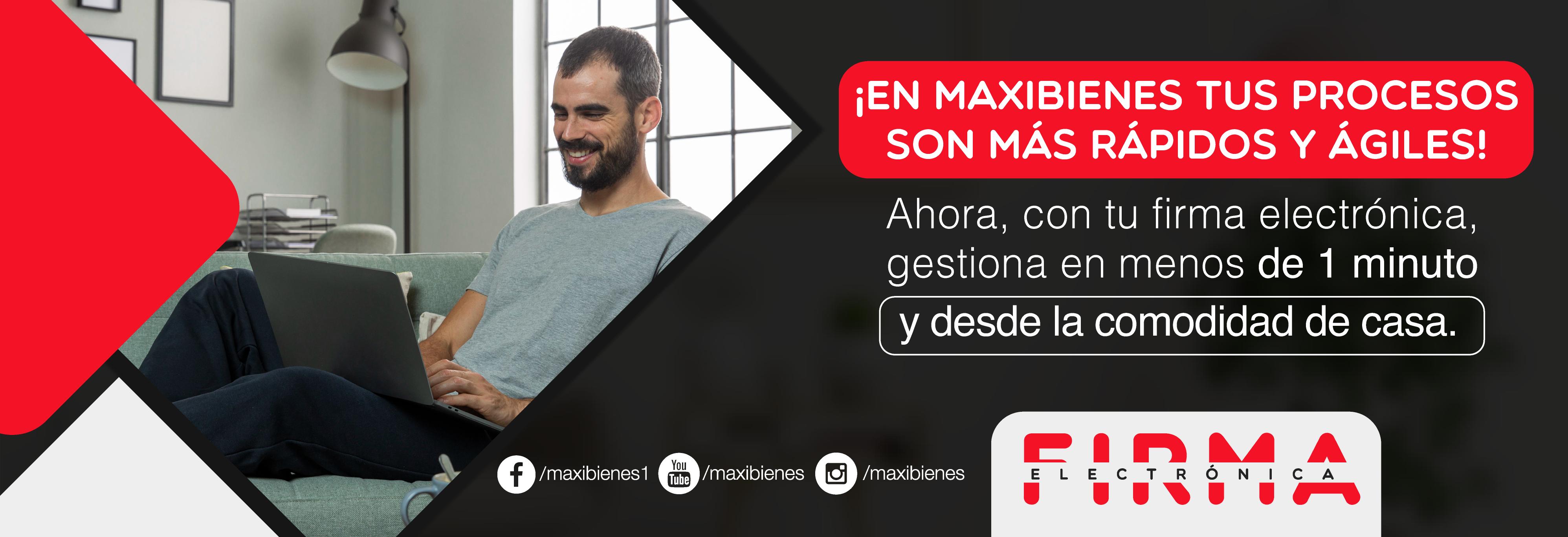 imagen del slide de presentacion de la pagina de Maxibienes